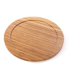 "Curtis Stone 14"" Round Dual-Sided Bamboo Cutting Board"