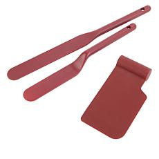 Curtis Stone 3-piece Nylon Spatulas and Bowl Scraper
