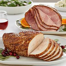 Curtis Stone Bone-in Spiral Ham & Turkey Breast Roast
