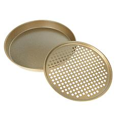 Curtis Stone Dura-Bake 2-piece Pizza Pan Set