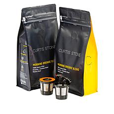 Curtis Stone Premium Morning Brekki Blend 2 Coffee Bags w/2 K-Cup Pods