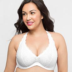 Curvy Couture Lace Halter Bra