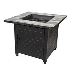 D & H Uniflame LP Gas Fire Table in Black Grey