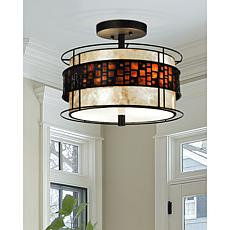 Dale Tiffany Cobblestone Semi-Flush Mount Light Fixture