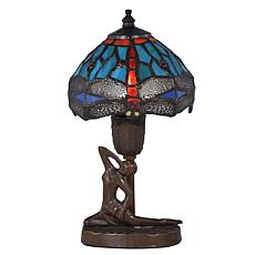 Dale Tiffany Dragonfly Sculpture Accent Lamp