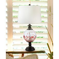 Dale Tiffany Halen Globe Painted Crystal Table Lamp