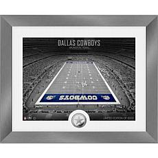 Dallas Cowboys Art Deco Stadium Silver Coin Photo Mint