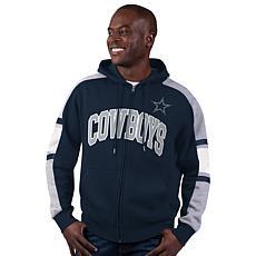 Dallas Cowboys Black Label Men's Full-Zip Fleece Hoodie by Glll