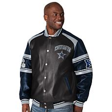Dallas Cowboys NFL Faux Leather Varsity Jacket by Glll