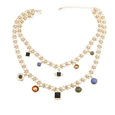 "Danielle Nicole ""Johannes"" Gem-Color Dangle  Necklace"