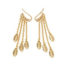 "Danielle Nicole ""Palisades"" Leaf-Design Earrings"