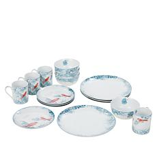 Darbie Angell Birds of a Feather 16-piece Porcelain Dinnerware Set