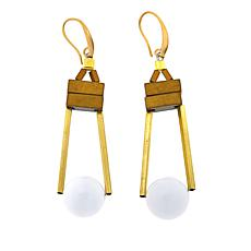 David Aubrey Colored Bead Geometric Drop Earrings