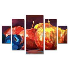 David Lloyd Glover 'Ripe Plums and Apples' Art