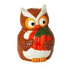 David's Cookies Fall Owl Cookie Jar w/Pecan Meltaways - Sept Delivery