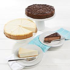 "David's Cookies Set of 2 10"" NY Style & Triple Chocolate Cheesecakes"