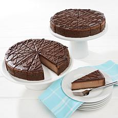 "David's Cookies Set of 2 10"" Triple Chocolate Cheesecakes Auto-Ship®"