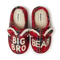 Dearfoams Big Bro Bear Plaid Clog