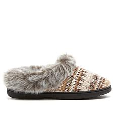 Dearfoams Fair Isle Chunky Knit Slipper