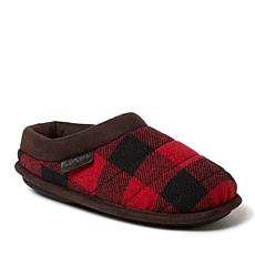 Dearfoams Kids Quilted Clog with Faux Leather Trim