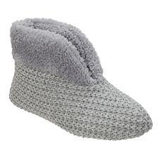 Dearfoams Knit Slipper Bootie