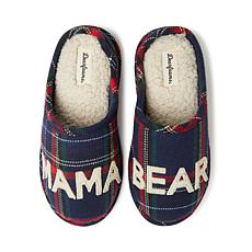 Dearfoams Mama Bear Plaid Clog