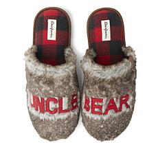 Dearfoams Men's Furry Uncle Bear Scuff Slipper