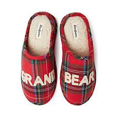 Dearfoams Men's Grand Bear Plaid Clog
