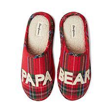 Dearfoams Men's Papa Bear Plaid Clog