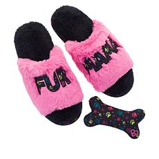 e827c864a33c38 Dearfoams Pet Collection Memory Foam Slipper and Pet Toy