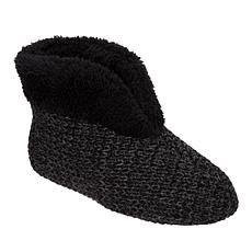 Dearfoams Textured Knit Bootie