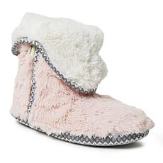 Dearfoams Women's Beth Furry Foldover Slipper Boot