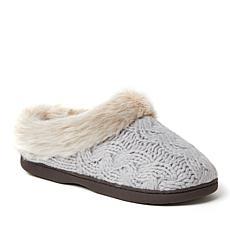 Dearfoams Women's Claire Chunky Knit Clog Slippers