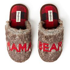 Dearfoams Women's Furry Mama Bear Scuff