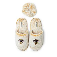Dearfoams Women's Lane Slide with Embellishment