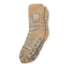 Dearfoams Women's Space-Dye Textured Knit Flurry Slipper Sock