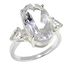 "Deb Guyot 7.6ctw Herkimer ""Diamond"" Quartz 3-Stone Ring"