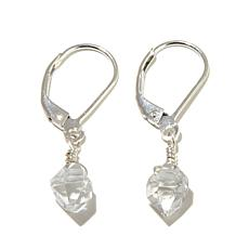 "Deb Guyot Herkimer ""Diamond"" Quartz ""Cici"" Sterling Silver Earrings"