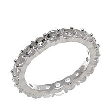 "Deb Guyot Herkimer ""Diamond"" Quartz Eternity Band Ring"