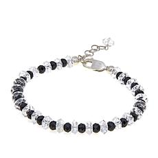 Deb Guyot Herkimer Quartz and Black Spinel Bracelet