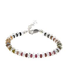 Deb Guyot Herkimer Quartz and Tourmaline Bracelet