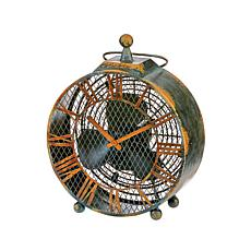 DecoBREEZE 2-Speed Antique Clock Figurine Fan