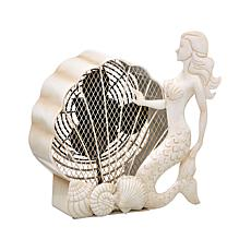DecoBREEZE Single-Speed Mermaid Figurine Fan