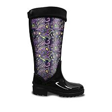 DecZ Rain Boots with Decorative Shaft Insert
