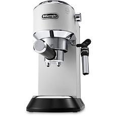 Dedica Deluxe Pump Espresso Machine w/Rapid Cappuccino System - White