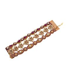 "deepa by Deepa Gurnani®  ""Laurie"" 3-Row Beaded Bracelet"