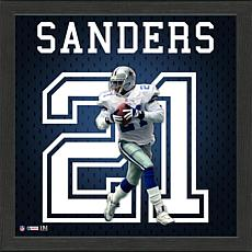 Deion Sanders Impact Jersey Framed Photo