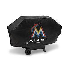 Deluxe Grill Cover - Miami Marlins