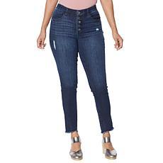 "Democracy ""Ab"" solution Button-Fly Jean"