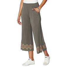 Democracy Embroidered Palazzo Pant